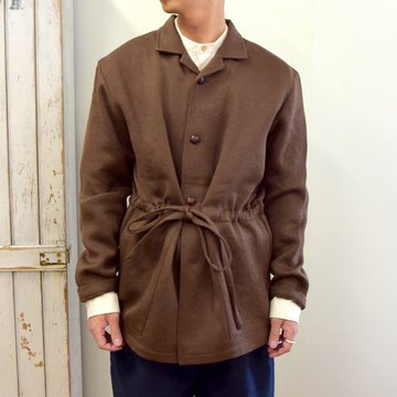 【2020】FRANK LEDER(フランクリーダー)/ BROWN WOOL SHIRT JACKET WITH DRAWSTRING -BROWN- #0126041