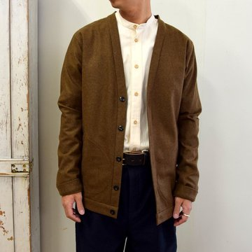 【2020】FRANK LEDER(フランクリーダー)/ LIGHT WEIGHT LODEN WOOL CARDIGAN -BROWN- #0127018