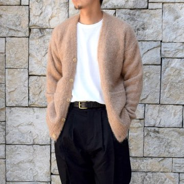 【2020】 AURALEE(オーラリー)/ ALPACA WOOL SUPER LIGHT KNIT BIG CARDIGAN -TOP BEIGE- #A20AC01AW