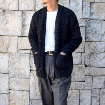 【2020】 AURALEE(オーラリー)/ ALPACA WOOL SUPER LIGHT KNIT BIG CARDIGAN -TOP CHARCOAL- #A20AC01AW