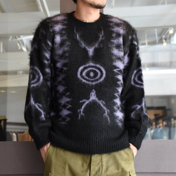【2020】South2 West8(サウスツーウエストエイト) Loose Fit Knit-BLACK- #HM906