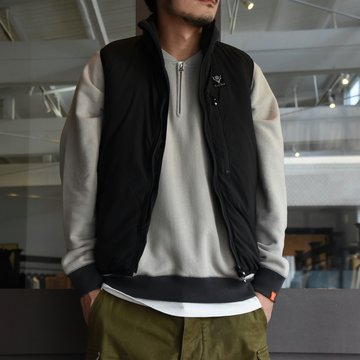 South2 West8(サウスツーウエストエイト)Insulator Vest-Peach Skin-BLACK- #HM813