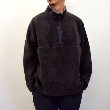 【2020】Graphpaper (グラフペーパー)/ Wool Boa High Neck Pull Over -2色展開- #GU203-70165