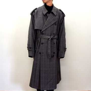 【2020】stein(シュタイン)/ DEFORMATION TRENCH COAT -GLEN CHECK- #ST-175-2
