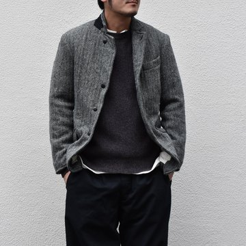 【2020】Chez Vidalenc (シェヴィダレンク)/ HARRIS TWEED JACKET-GRAY- #JK01