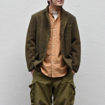 【2020】Chez Vidalenc (シェヴィダレンク)/ HARRIS TWEED JACKET-GREEN FOX- #JK01