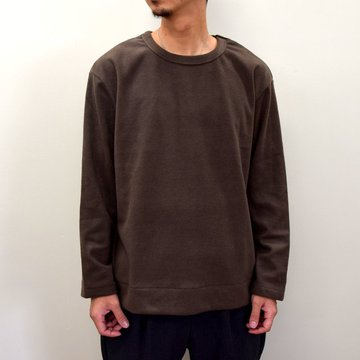 【2020】LA MOND(ラモンド)/ ANGORA CREW NECK -BROWN- #LM-C-135