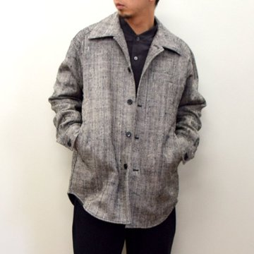 山内 (やまうち)/ Dead Stock Silk Wool Shirt Jacket -HERRINBONE- #20a32-B