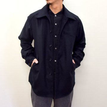 山内 (やまうち)/ Dead Stock Silk Shirt Jacket -BLACK- #20a32-A