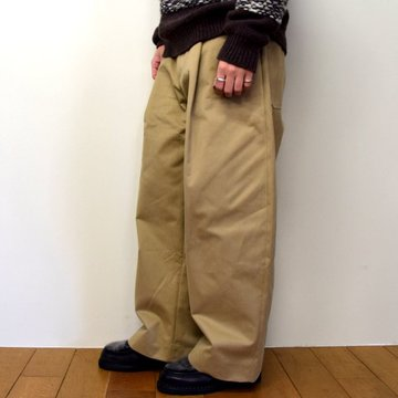 STUDIO NICHOLSON(スタジオニコルソン)/ PEACHED COTTON TWILL-TAN- #SNM-351