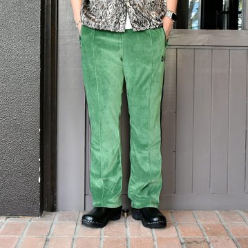 [2021]NEEDLES(ニードルス) NARROW TRACK PANT C/PE VELOUR -GREEN- #IN187