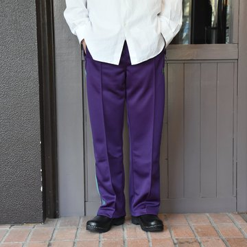[2021]NEEDLES(ニードルス) TRACK PANT POLY SMOOTH -EGG PLANT- #IN181