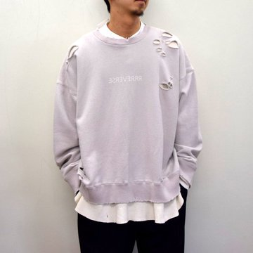 stein(シュタイン)/ OVERSIZED LAYERED SWEAT LS -CHARCOAL- #ST189