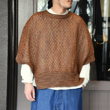 [2021]amachi.(アマチ) Paesina Stone Knit Vest -BROWN- #AY8-27