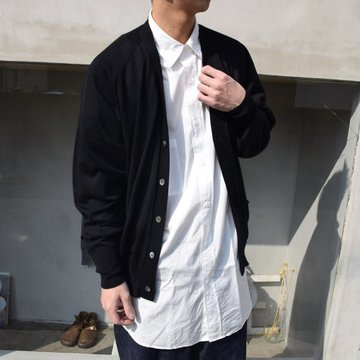 HERILL (ヘリル)/ CASHMERE HIGH GAUGE CARDIGAN -BLACK- #21-080-HL-8040
