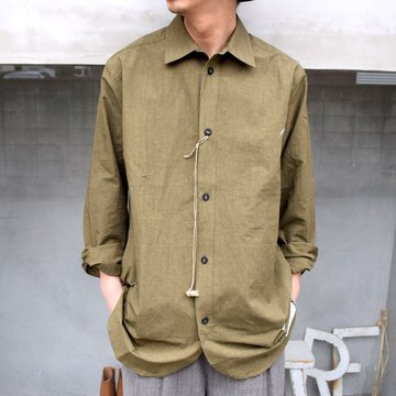 FRANK LEDER(フランクリーダー)/ COTTON / LINEN SIDE POCKET SHIRT WITH SEED 0216077-58