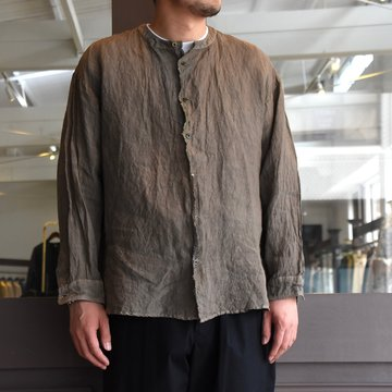 [2021]amachi.(アマチ) Front Cut Shirts -Charcoal Dye- #AY8-9