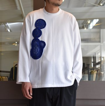 [2021]amachi.(アマチ) Caillois's Agate Sweat-White- #AY8-15