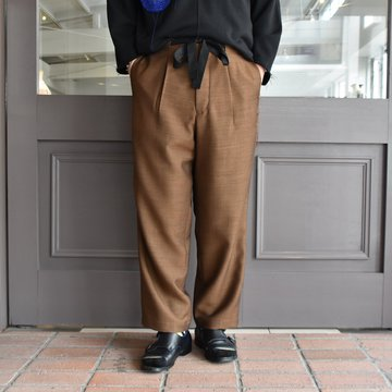 [2021]amachi.(アマチ) Side Stitch Pajama Pants-Brown- #AY8-21