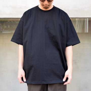 【2021】Graphpaper (グラフペーパー)/S/S Oversized Tee -BLACK- #GU201-70189B