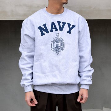 Champion(チャンピオン)/ US NAVY REVERSE WEAVE CREW NECK SWEAT -GRAY- #000029717