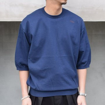 HERILL (ヘリル)/ Cotton S/S Crewneck 21-080-HL-NV