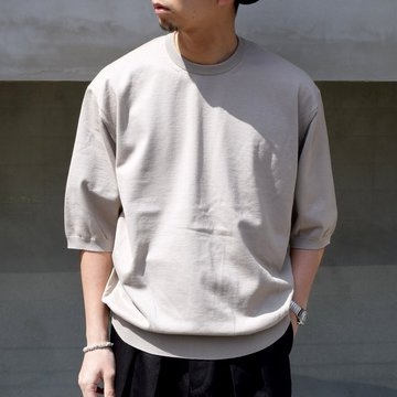 HERILL (ヘリル)/ Cotton S/S Crewneck -BEIGE- #21-080-HL-BE