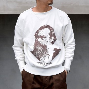YOUNG & OLSEN(ヤングアンドオルセン)/ LOOP WHEELED PRINTED SWEAT -BRAHMS- #YO2101-CS003