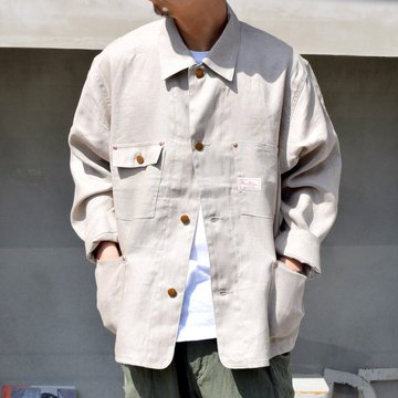YOUNG & OLSEN(ヤングアンドオルセン)/ LINEN TWILL WORK JACKET -NATURAL- #YO2101-JK001