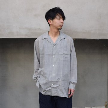 MAATEE&SONS(マーティーアンドサンズ)/ OPEN COLLAR SHIRTS -Top Grey- #MT1103-0610