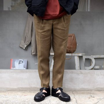 MARKAWARE(マーカウェア)/PEGTOP EASY TROUSERS HEMP-KHAKI- #A21A-08PT01C