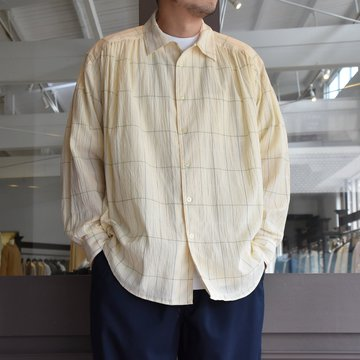 [2021] AiE(エーアイイー)/PAINTER SHIRT-COTTON GAUZE PLAID- #IN532