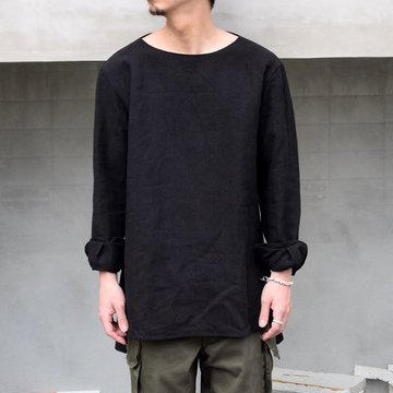 SUS-SOUS (シュス)/ SLEEPING SHIRTS -BLACK- #05-SS01410