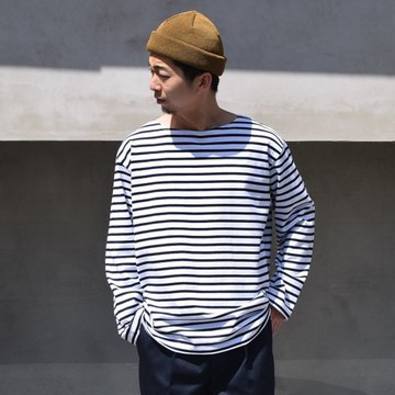 BROWN by 2-tacs (ブラウンバイツータックス)/ CR-BASQUE -WHITE×NAVY- #B25-T003
