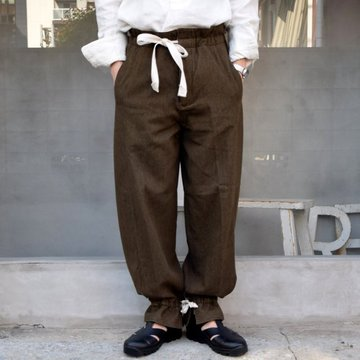 SUS-SOUS (シュス)/ TROUSERS WORK -KHAKI BEIGE- #05-SS01604