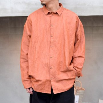toogood(トゥーグッド)/ THE DRAUGHTSMAN SHIRT LINEN COTTON DRILL -CLAY-
