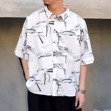 toogood(トゥーグッド)/ THE GARDENER SHIRT SHORT PRINTED POPLIN -PLOUGHED FIELDS-