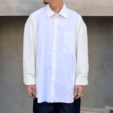 CAMIEL FORTGENS(カミエル フォートゲンス)/ RESEARCH SHIRT TEE LONG SLEEVE COTTON/JERSEY -WHITE- #11.11.05