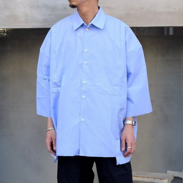 CAMIEL FORTGENS(カミエル フォートゲンス)/ RESEARCH DOUBLE SHIRT SHIRT COTTON -BLUE STRIPE- #11.11.06