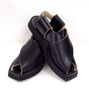 Le Sac du Berger(ル サックデュベルジュ)/ LEATHER SANDAL -BLACK- #LESACDUBER02