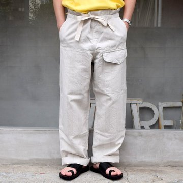 SUS-SOUS (シュス)/ TROUSERS MK-1 -NATURAL- #05-SS01012