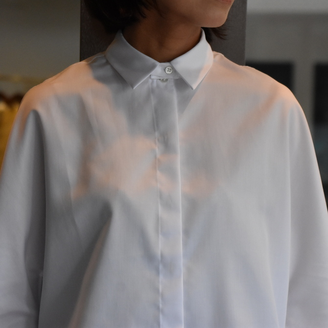 TENNE HANDCRAFTED MODERN(テン ハンドクラフテッドモダン) GUSSET SL SHIRT WITH COLLAR #0013-21SS(10)