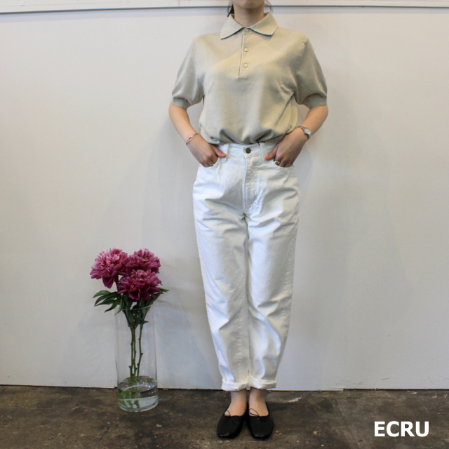 LENO&Co.(リノアンドコー) 【20SS】COTTON SILK KNIT POLO(2色展開)_L2001K002【Z】(11)