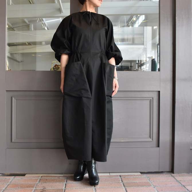 TENNE HANDCRAFTED MODERN(テン ハンドクラフテッドモダン) VOLUME SLEEVE DRESS #0014DR(11)