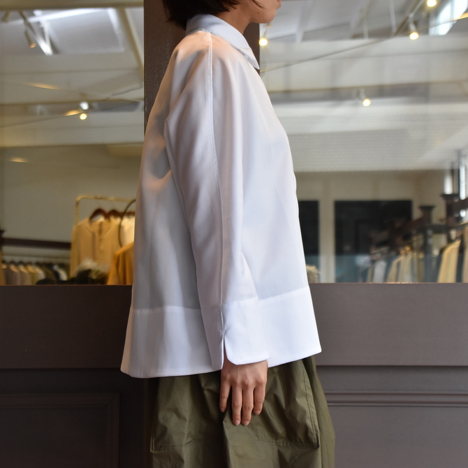 TENNE HANDCRAFTED MODERN(テン ハンドクラフテッドモダン) GUSSET SL SHIRT WITH COLLAR #0013-21SS(11)