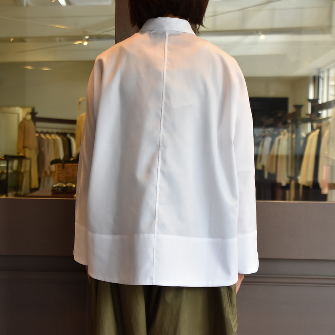 TENNE HANDCRAFTED MODERN(テン ハンドクラフテッドモダン) GUSSET SL SHIRT WITH COLLAR #0013-21SS(12)