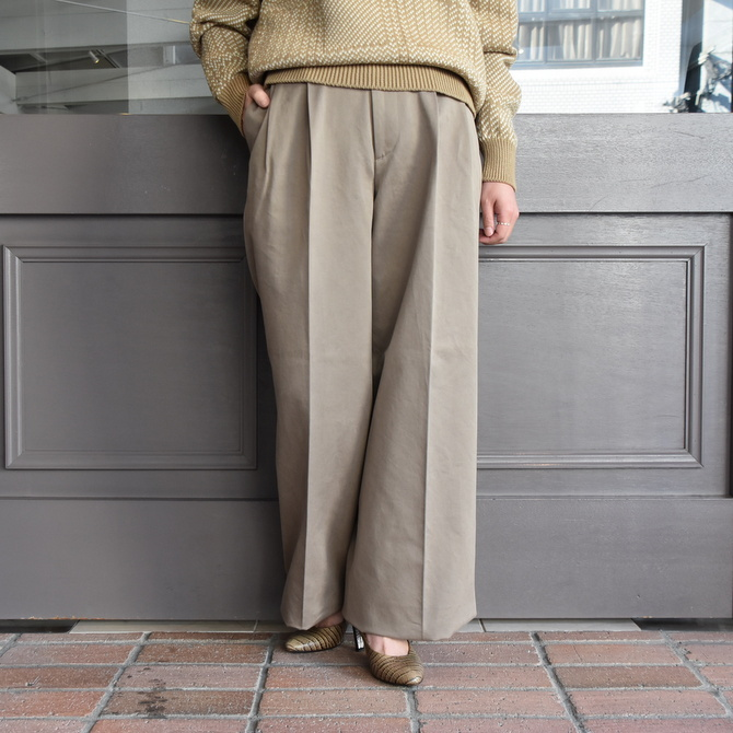 【40% off sale】AURALEE(オーラリー)  WASHED FINX CHINO WIDE TUCK PANT #A9AP02CN【Z】(1)