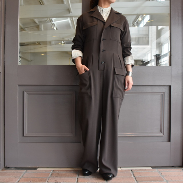 【40% off sale】AURALEE(オーラリー)  HARD TWIST WOOL BARATHEA JUMPSUIT #A9AT01BB(1)