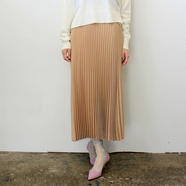 Graphpaper(グラフペーパー)【20 SS】Silk Wool Pleat Skirt_GL201-40039【K】(1)