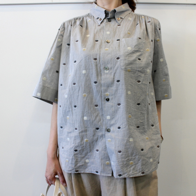 GASA*(ガサ) 【20SS】花ごろも short sleeve shirt_11201-15207【K】(1)